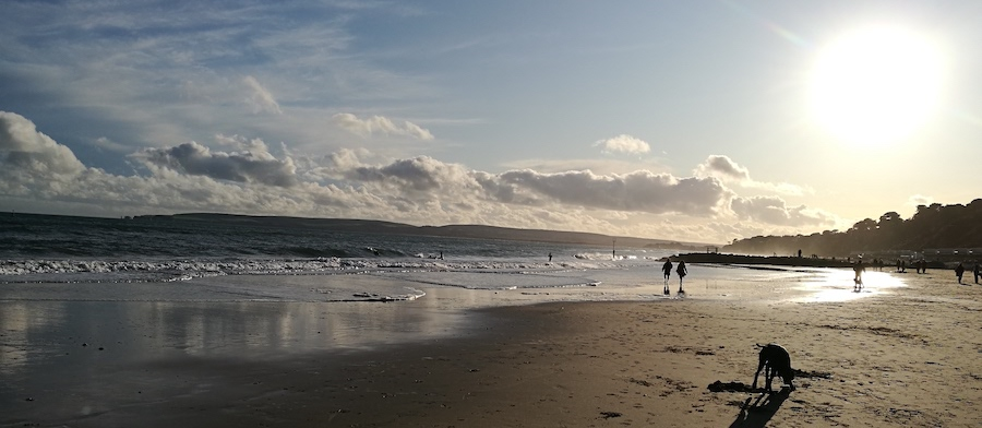 Winter seascape at North Lodge Dorset